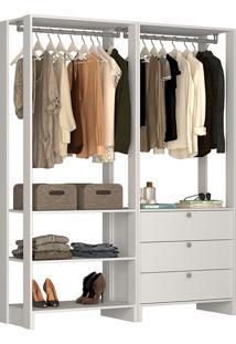 Guarda-Roupa Modulado Closet 101102 - Nova Mobile - Branco