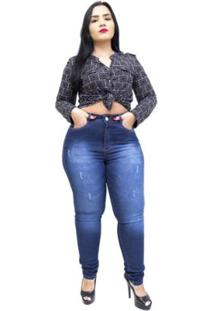 Calça Jeans Helix Plus Size Skinny Salet Feminina - Feminino