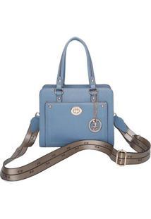 Bolsa De Mão Fernanda Fellipe Krein Fk337 Floater Feminina - Feminino-Azul Claro