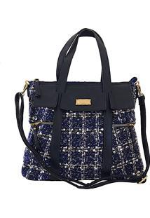 60f66fabd Bolsa Azul Jacquard feminina | Gostei e agora?