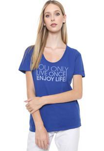 Camiseta Calvin Klein Jeans Live Once Azul