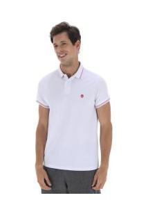 Camisa Polo Timberland 4 Stripes Super - Masculina - Branco