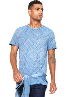 Camiseta Malwee Étnica Azul
