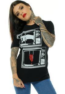 Camiseta Bossa Brasil Television Preto - Preto - Feminino - Algodã£O - Dafiti