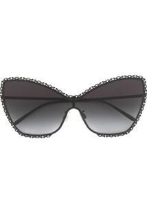 Dolce & Gabbana Eyewear Óculos De Sol Borboleta Devotion - Preto