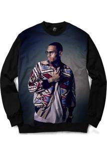 Blusa Bsc Chris Brown Full Print - Masculino