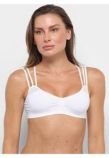 Sutiã Top Lupo Sem Costura Fresh - Feminino-Branco