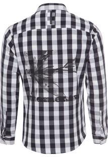 Camisa Masculina Young Americans - Preto E Branco