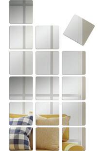 Espelho Love Decor Decorativo Kit Quadrados - Prata - Dafiti