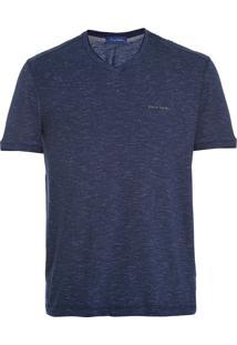 Camiseta Slim Listras Marinho