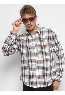 Camisa Xadrez Ellus 2Nd Floor Masculina - Masculino-Areia