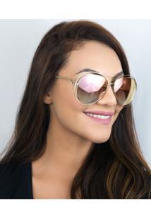 Óculos De Sol Feminino Chloé Carlina Ce134S 794 61 Dourado