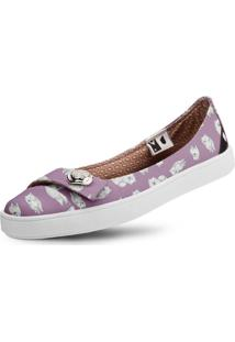 Sapatilha Usthemp Womanly Vegano Casual Estampa Spitz Roxo
