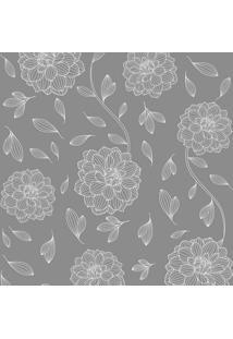 Papel De Parede Flores Cinza Médio (950X52)