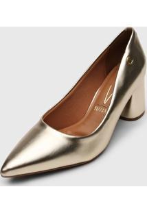 Scarpin Vizzano Metalizado Dourado