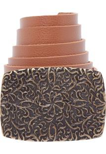 Cinto Fiveblu Textura Caramelo