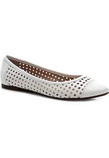 Sapatilha Shoestock Laser Feminina - Feminino-Off White