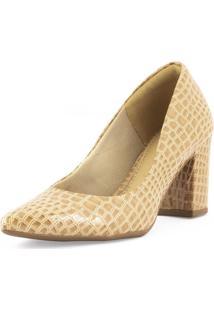 Sapato Scarpin Feminino Casual Salto Grosso