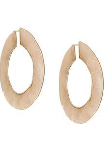 Erika Cavallini Flat Hoop Earrings - Dourado