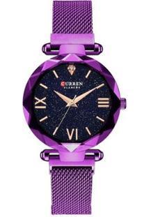 Relógio Curren Analógico C9063L Feminino - Feminino-Roxo