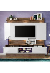 Painel Para Tv Tb113L Com Led Off White/Nobre - Dalla Costa
