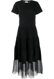 Redvalentino Vestido Com Amarração - Preto