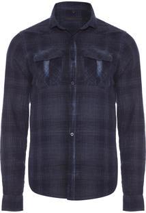 Camisa Masculina Nicolas - Azul Marinho
