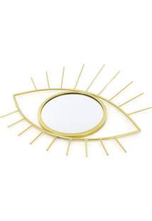 Espelho Le Olho Grego Dourado 31X35Cm