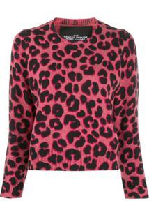 Marc Jacobs Suéter Estampado - Rosa