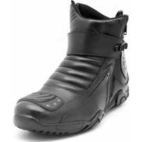 b34f020d70d Bota Motoqueiro Cano Curto Em Couro Atron Shoes Preta