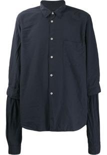 Comme Des Garçons Homme Plus Chest Pocket Shirt - Cinza