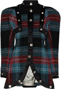 Charles Jeffrey Loverboy Tartan Check Pattern Jacket - Preto