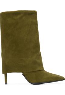 Balmain Ankle Boot De Camurça - Green