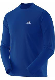 Camiseta Manga Longa Salomon Masculina Comet Younder Azul G