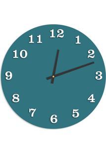Relógio De Parede Premium Ágata Com Números Em Relevo Branco 50Cm Grande
