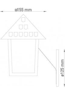Arandela Colonial Quadrada Vidro Liso Blumenau Cobre