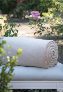 Cobertor Microfibra Caqui Scavone - Bege - Dafiti