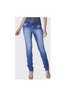 Calça Jeans Zuren Skinny Used Azul