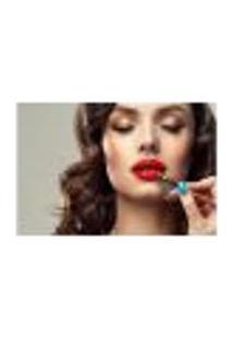 Painel Adesivo De Parede - Salão De Beleza - Maquiagem - 828Pnp