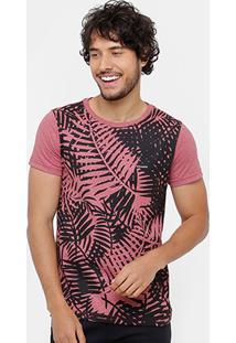 Camiseta Rock & Soda Folhagem Masculina - Masculino