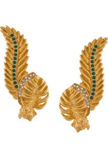 Versace Earcuff Com Aplicação De Cristais - Dourado