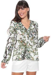 Camisa Lez A Lez Sagui Branca/Verde