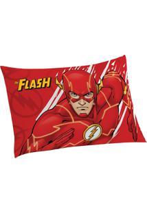 Fronha Avulsa Estampada Liga Da Justiça The Flash 50 Cm X 70 Cm Com 1 Peça Lepper Vermelha
