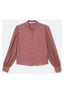 Camisa Manga Bufante Em Viscose Com Botões Pitanga | Atelier | Rosa | G