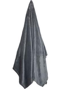 Cobertor Velour Neo Em Microfibra Queen Size- Cinza Escucamesa