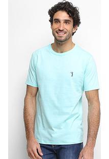 Camiseta Aleatory Masculino Básica Lisa Masculina - Masculino-Azul Claro