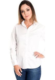Camisa Pimenta Rosada Julie - Feminino-Branco
