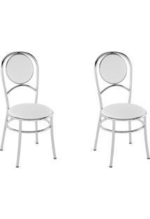 Kit 2 Cadeiras Pc03 Assento Branco - Pozza