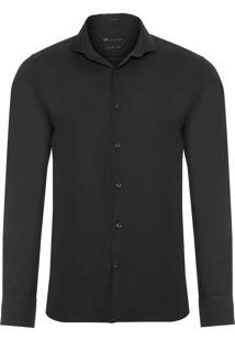 Camisa Masculina Urban Slim Fit - Preto