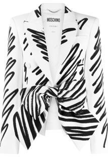 Moschino Blazer Com Detalhe De Laço - Branco